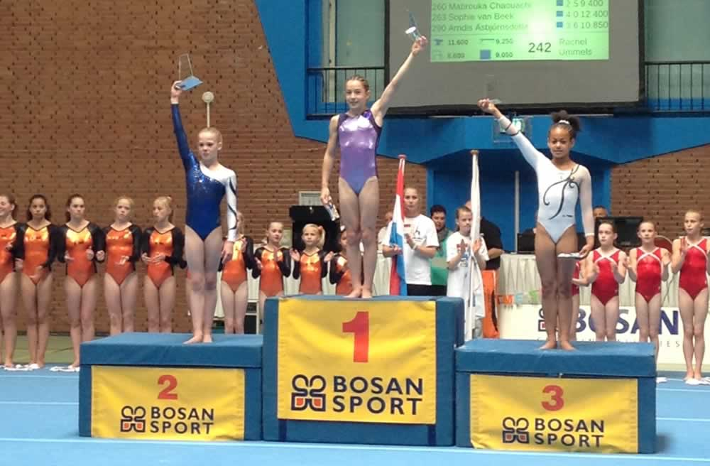 Ella on the podium