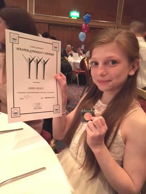 Jodi with her Certificate and Pin