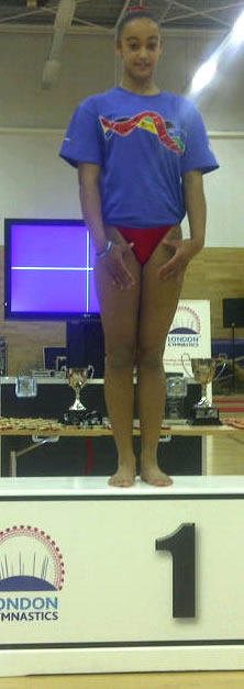 Maisie Ross-Jessop on the podium