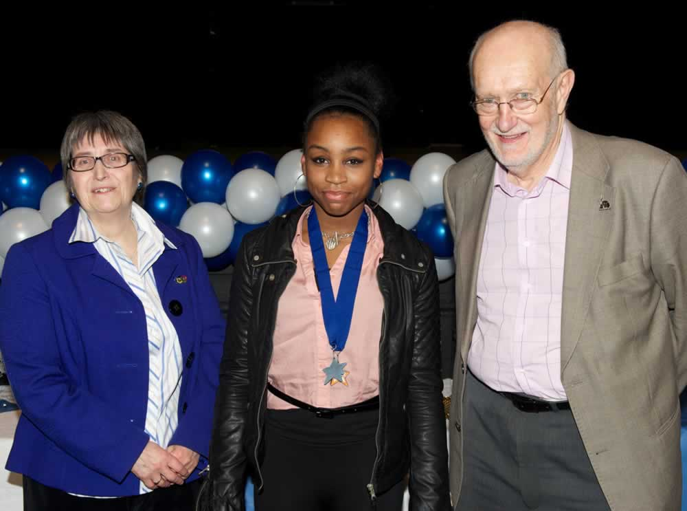 Celeste with her London Youth Games Silver Medal Award